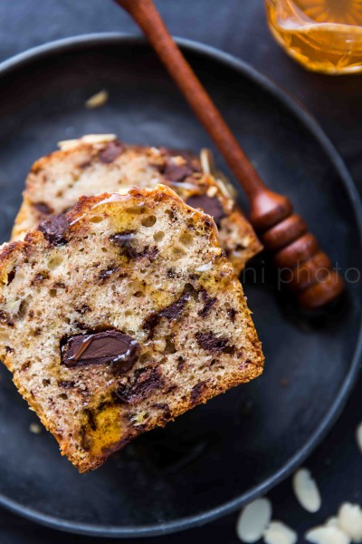 Vegan Banana Bread al cioccolato